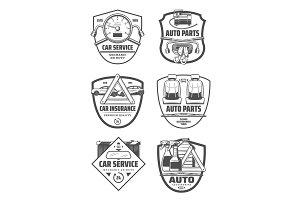 Car repair diagnostic icons