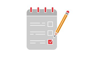 To do list glyph color icon