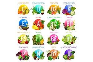 Vitamins and minerals, organic food