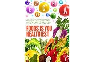 Healthy vegetarian organic vitamins