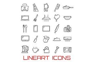 Utensil and home appliance icons