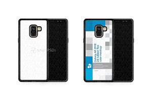 Galaxy A8 2d RubberFlex Mobile Case