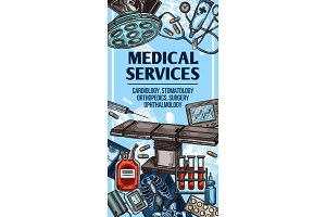 Medical service and equipment sketch