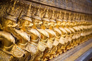Golden Statues in Bangkok
