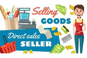 Supermarket seller profession