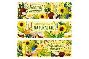 Organic vegetable cooking oils