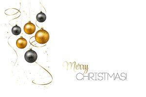 Christmas background with gold