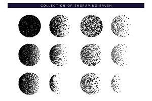 Dots black texture