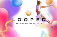 11-LOOPER Animated Gradients by  in Textures