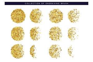 Gold sequins texture.