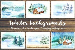 Winter backgrounds. Landscapes