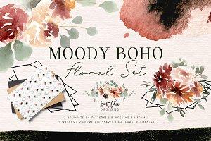 Moody Boho Floral Set