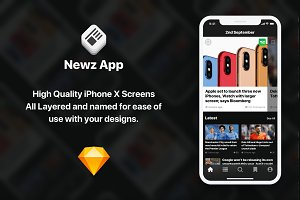Newz iOS UI Kit & Theme