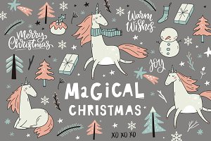 Magical Christmas Unicorn
