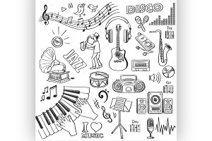 Hand drawn music