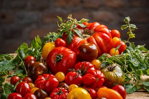 Healthy colorful tomatoes