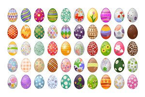 95 Easter Egg Vector Icons