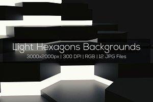 Light Hexagons Backgrounds