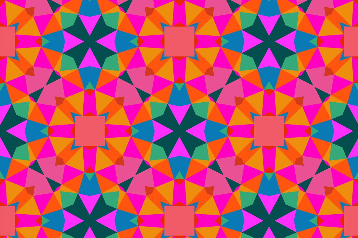 Geometric Pattern In Bright Color Graphic Patterns Creative Market