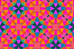 Geometric pattern in bright color