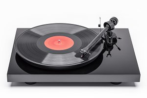 turntable and vinyl record