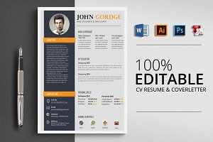 CV Resume Word 4 Format Template