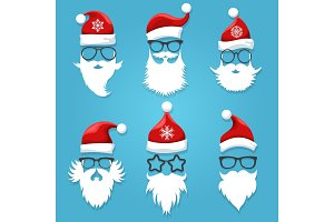 Santa face wearing