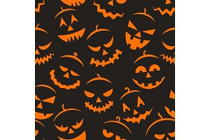 Scary halloween pattern