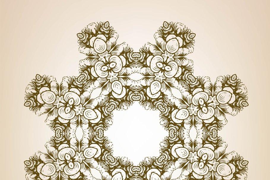 Decorative floral element