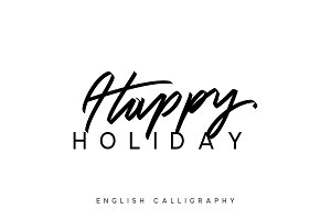 Text Happy holiday.