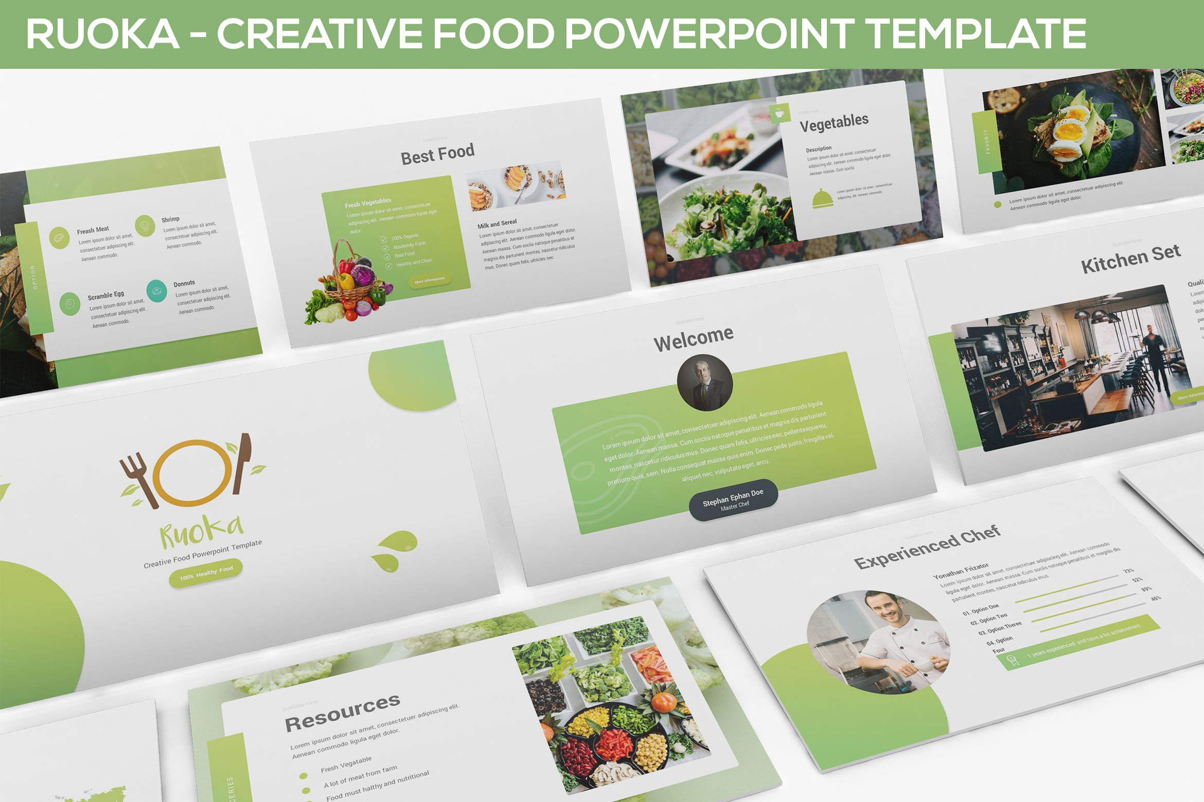 Ruoka Food Powerpoint Template Presentation Templates Creative