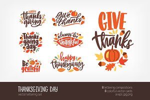 Thanksgiving day letterings