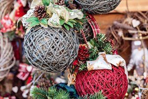 Handmade cristmas balls