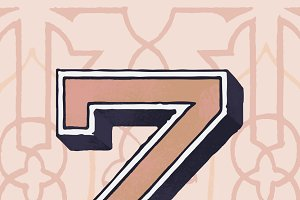 letter Z vintage typography style