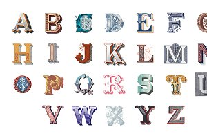 The Alphabet set of capital letters