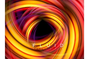 Fluid smooth wave abstract