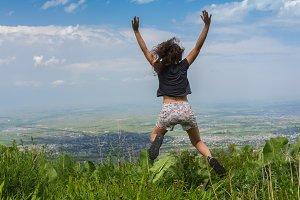 Carefree Happy Woman Enjoying Nature