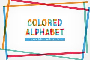 Creative english alphabet