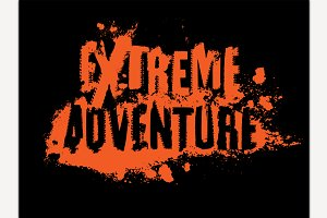 Extreme Adventure Lettering