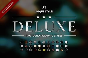 Dark Deluxe Photoshop Graphic Styles