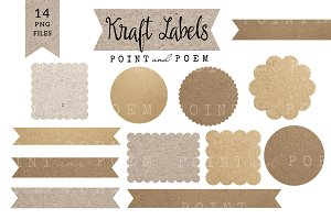 Kraft Labels and Ribbons
