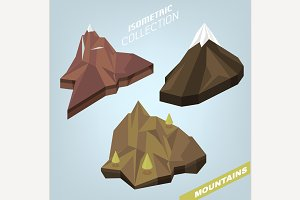 3D Isometric Mountains