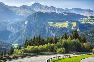 Traveling to beautiful Alps in