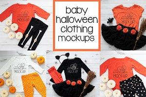 baby halloween clothing mockups
