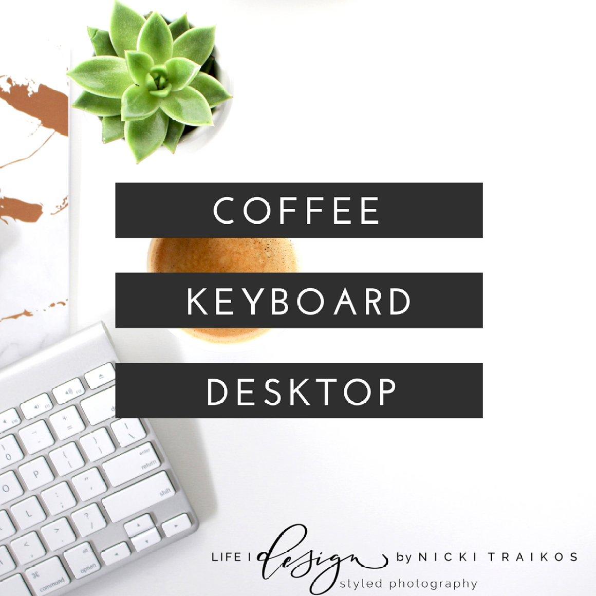 Minimalist desktop with Coffee