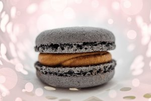 French macaroons in gray