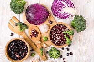 Fresh cabbage,broccoli,garlic