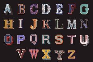 The Alphabet set of vintage letters