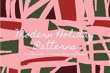 Modern Holiday | Patterns + Artboard