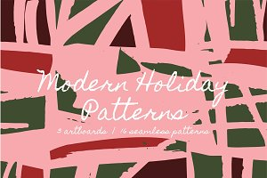 Modern Holiday | Patterns + Artboard
